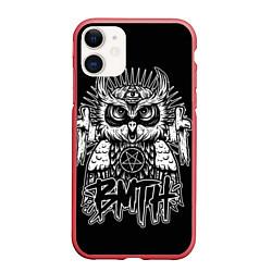 Чехол iPhone 11 матовый BMTH Owl цвета 3D-красный — фото 1