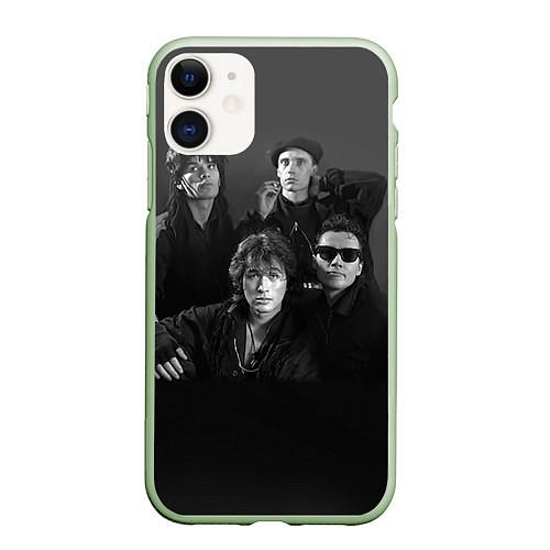 Чехол iPhone 11 матовый Группа Кино / 3D-Салатовый – фото 1