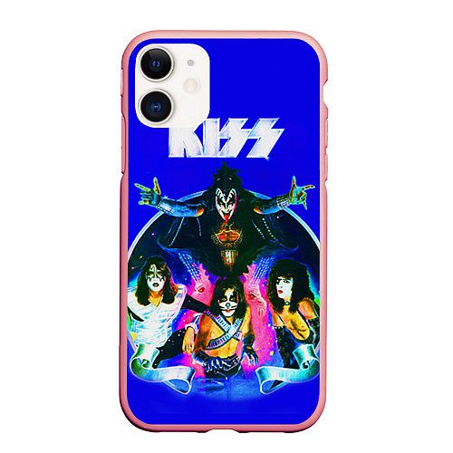 Чехол iPhone 11 матовый Kiss Show / 3D-Баблгам – фото 1
