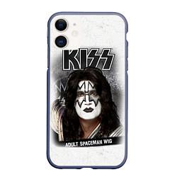 Чехол iPhone 11 матовый KISS: Adult spaceman wig цвета 3D-серый — фото 1