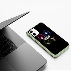 Чехол iPhone 11 матовый KISS: Acid Colours цвета 3D-салатовый — фото 2