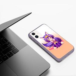 Чехол iPhone 11 матовый No Game No Life цвета 3D-серый — фото 2