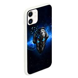 Чехол iPhone 11 матовый Pirate Station: Blue Space цвета 3D-белый — фото 2