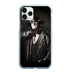 Чехол iPhone 11 Pro матовый Гробовщик 2 цвета 3D-голубой — фото 1