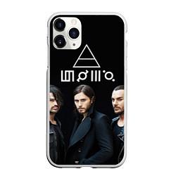 Чехол iPhone 11 Pro матовый 30 seconds to mars цвета 3D-белый — фото 1