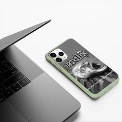 Чехол iPhone 11 Pro матовый The Prodigy: Madness цвета 3D-салатовый — фото 2