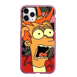 Чехол iPhone 11 Pro матовый Frai Horrified цвета 3D-малиновый — фото 1