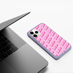Чехол iPhone 11 Pro матовый Barbie Pattern цвета 3D-светло-сиреневый — фото 2