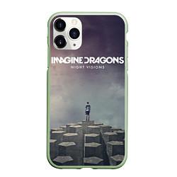 Чехол iPhone 11 Pro матовый Imagine Dragons: Night Visions цвета 3D-салатовый — фото 1