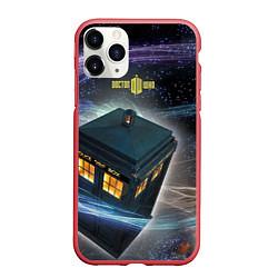Чехол iPhone 11 Pro матовый Police Box цвета 3D-красный — фото 1