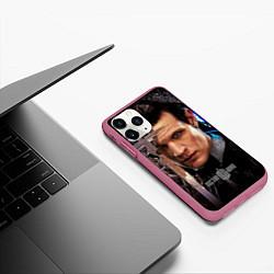 Чехол iPhone 11 Pro матовый Доктор кто цвета 3D-малиновый — фото 2