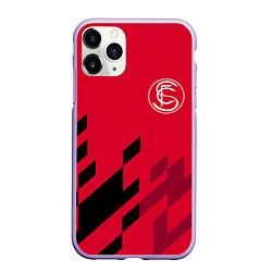 Чехол iPhone 11 Pro матовый Sevilla FC цвета 3D-светло-сиреневый — фото 1