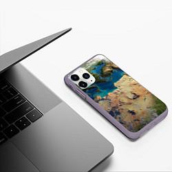 Чехол для iPhone 11 Pro матовый с принтом Земля, цвет: 3D-серый, артикул: 10065240205909 — фото 2