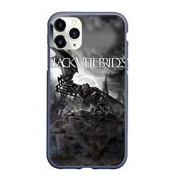Чехол iPhone 11 Pro матовый Black Veil Brides: Faithless цвета 3D-серый — фото 1