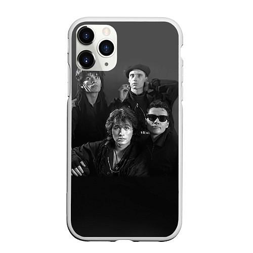 Чехол iPhone 11 Pro матовый Группа Кино / 3D-Белый – фото 1