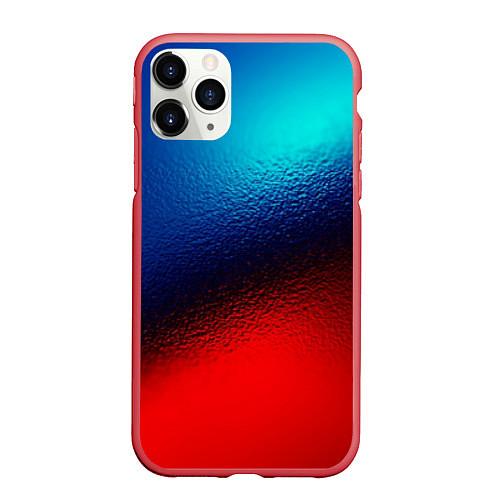 Чехол iPhone 11 Pro матовый Синий и красный / 3D-Красный – фото 1