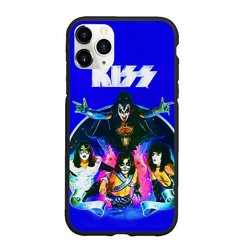 Чехол iPhone 11 Pro матовый Kiss Show / 3D-Черный – фото 1