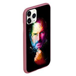 Чехол iPhone 11 Pro матовый Стив Джобс цвета 3D-малиновый — фото 2