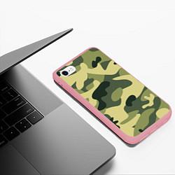 Чехол iPhone 6/6S Plus матовый Камуфляж: зеленый/хаки цвета 3D-баблгам — фото 2