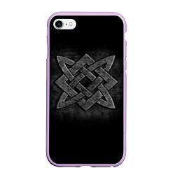 Чехол iPhone 6/6S Plus матовый Звезда Сварога цвета 3D-сиреневый — фото 1