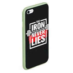 Чехол iPhone 6/6S Plus матовый The iron never lies цвета 3D-салатовый — фото 2