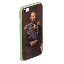 Чехол iPhone 6/6S Plus матовый Александр III Миротворец цвета 3D-салатовый — фото 2