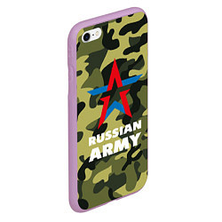 Чехол iPhone 6/6S Plus матовый Russian army цвета 3D-сиреневый — фото 2