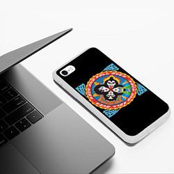 Чехол iPhone 6/6S Plus матовый KISS: Over цвета 3D-белый — фото 2