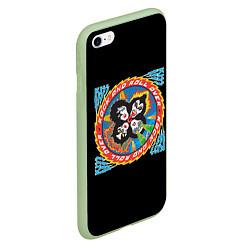 Чехол iPhone 6/6S Plus матовый KISS: Over цвета 3D-салатовый — фото 2