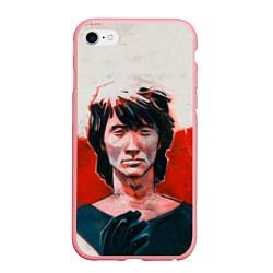 Чехол iPhone 6/6S Plus матовый Молодой Цой цвета 3D-баблгам — фото 1