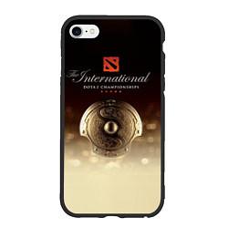Чехол iPhone 6/6S Plus матовый The International Championships цвета 3D-черный — фото 1