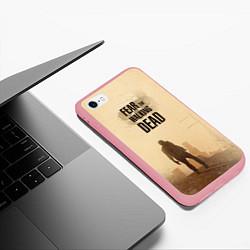 Чехол iPhone 6/6S Plus матовый FtWD: Walking Zombie цвета 3D-баблгам — фото 2
