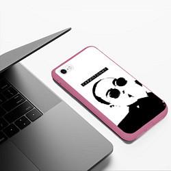 Чехол для iPhone 6/6S Plus матовый с принтом Скриптонит Ч/Б, цвет: 3D-малиновый, артикул: 10138561905961 — фото 2
