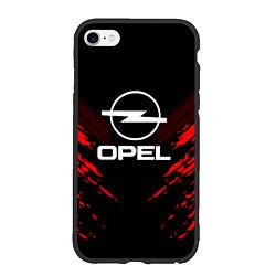 Чехол iPhone 6/6S Plus матовый Opel: Red Anger цвета 3D-черный — фото 1