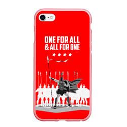 Чехол iPhone 6/6S Plus матовый One for all & all for one цвета 3D-баблгам — фото 1