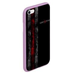 Чехол iPhone 6/6S Plus матовый God of War: Black Style цвета 3D-сиреневый — фото 2