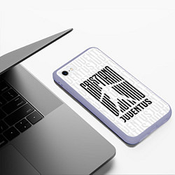 Чехол iPhone 6/6S Plus матовый Cris7iano Juventus цвета 3D-светло-сиреневый — фото 2