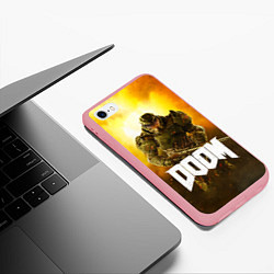 Чехол iPhone 6/6S Plus матовый DOOM: Soldier цвета 3D-баблгам — фото 2