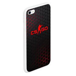 Чехол iPhone 6/6S Plus матовый CS:GO Grey Carbon цвета 3D-белый — фото 2