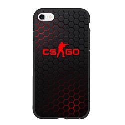 Чехол iPhone 6/6S Plus матовый CS:GO Grey Carbon цвета 3D-черный — фото 1