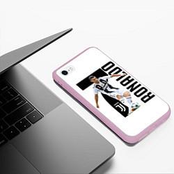 Чехол iPhone 6/6S Plus матовый Ronaldo the best цвета 3D-розовый — фото 2
