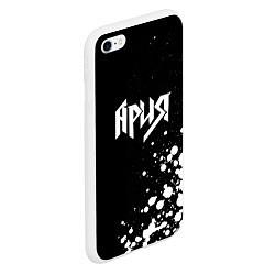 Чехол iPhone 6/6S Plus матовый Ария цвета 3D-белый — фото 2