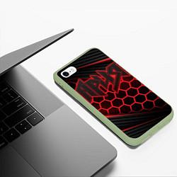 Чехол iPhone 6/6S Plus матовый Ария цвета 3D-салатовый — фото 2