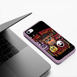 Чехол iPhone 6/6S Plus матовый Five Nights At Freddy's цвета 3D-сиреневый — фото 2