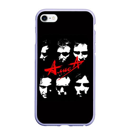 Чехол iPhone 6 Plus/6S Plus матовый Группа АлисА / 3D-Светло-сиреневый – фото 1