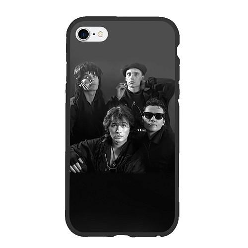 Чехол iPhone 6 Plus/6S Plus матовый Группа Кино / 3D-Черный – фото 1