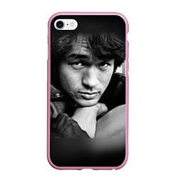 Чехол iPhone 6/6S Plus матовый Виктор Цой цвета 3D-розовый — фото 1