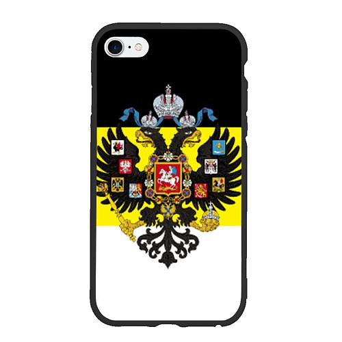 Чехол iPhone 6 Plus/6S Plus матовый Имперский Флаг / 3D-Черный – фото 1