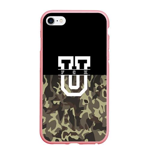 Чехол iPhone 6 Plus/6S Plus матовый FCK U: Camo / 3D-Баблгам – фото 1