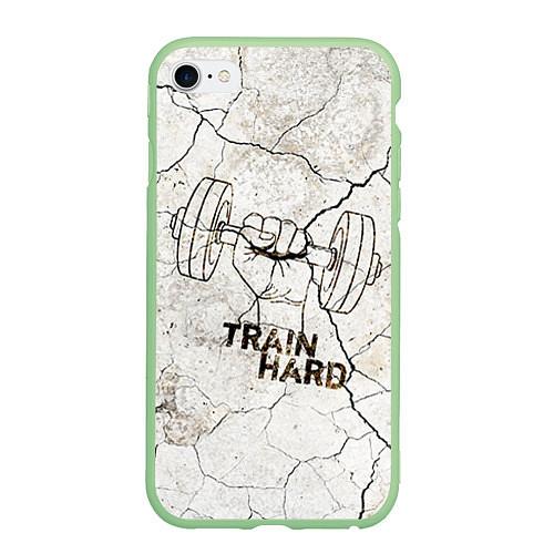 Чехол iPhone 6 Plus/6S Plus матовый Train hard / 3D-Салатовый – фото 1